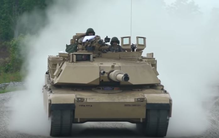 Watch U.S. M1 Abrams Tanks In Action Firing Impressive Tracer Shells On Moving Targets During Shooting Competition Featured