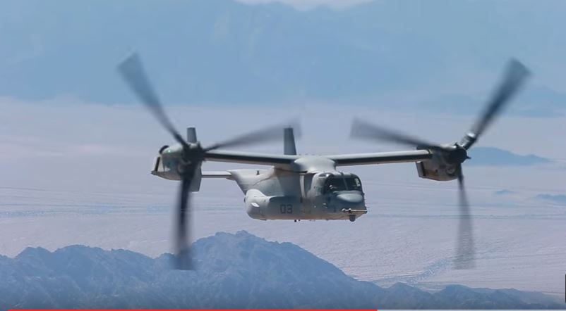 MV 22 Osprey During Raid - Search called off for 3 missing US Marines off the coast of Australia after MV-22 'mishap'