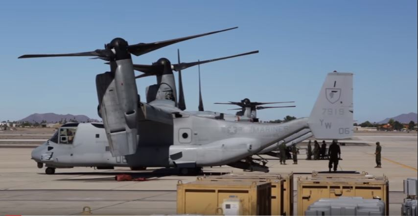 MV 22 Osprey - Remote-Controlled Defense Weapon System Provides Marines' MV-22 Osprey Incredible Firepower