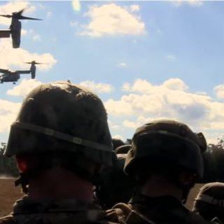 MV-22 Ospreys during FIREX 1-17.