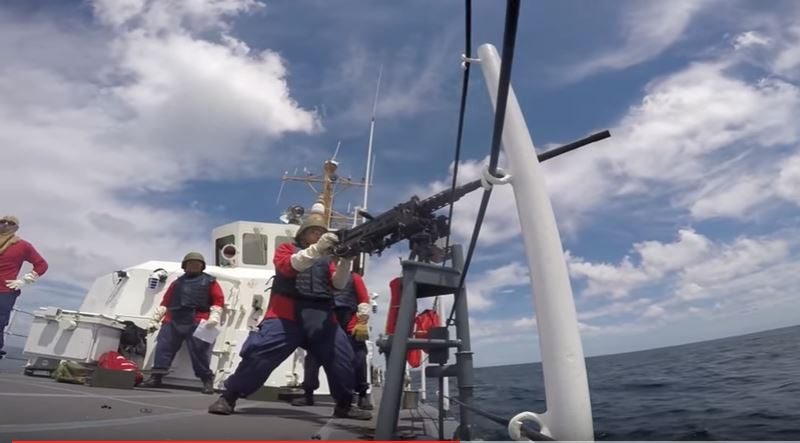 Watch The U.S. Coast Guard Cutter Manta Run Powerful Machine Gun Live Fire Drills Off The Gulf Of Mexico Featured