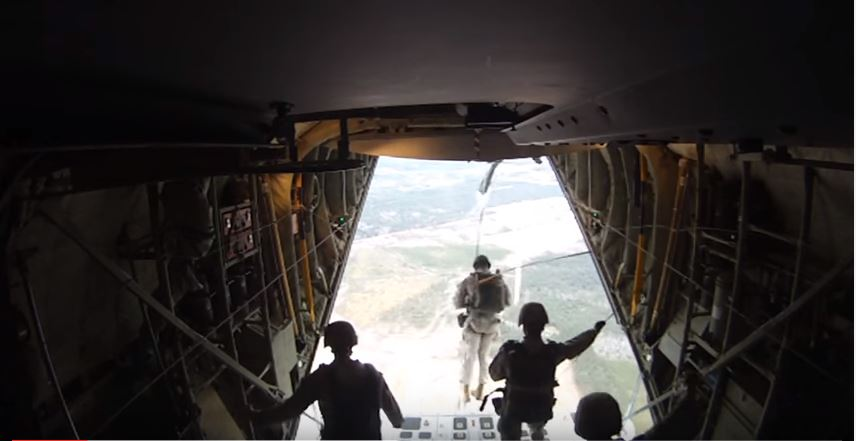 Marine Paratroopers Prove That Bombs Aren't The Only Deadly Thing That Falls From The Sky Featured