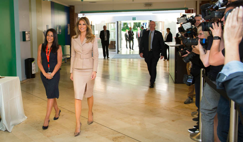 May 25 - From Fifth Avenue to the White House, Melania Trump is one fashionable First Lady