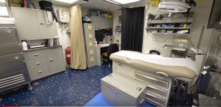 Med Bay - A first look inside life aboard the new class of US Navy stealth destroyer, the USS Zumwalt