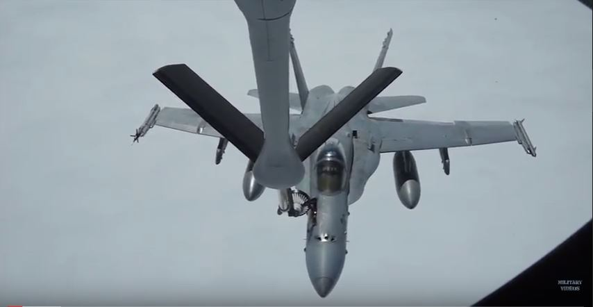 Midair refueling - Watch the KC-135 Stratotanker aircrew perform aerial refueling operations for military aircrafts