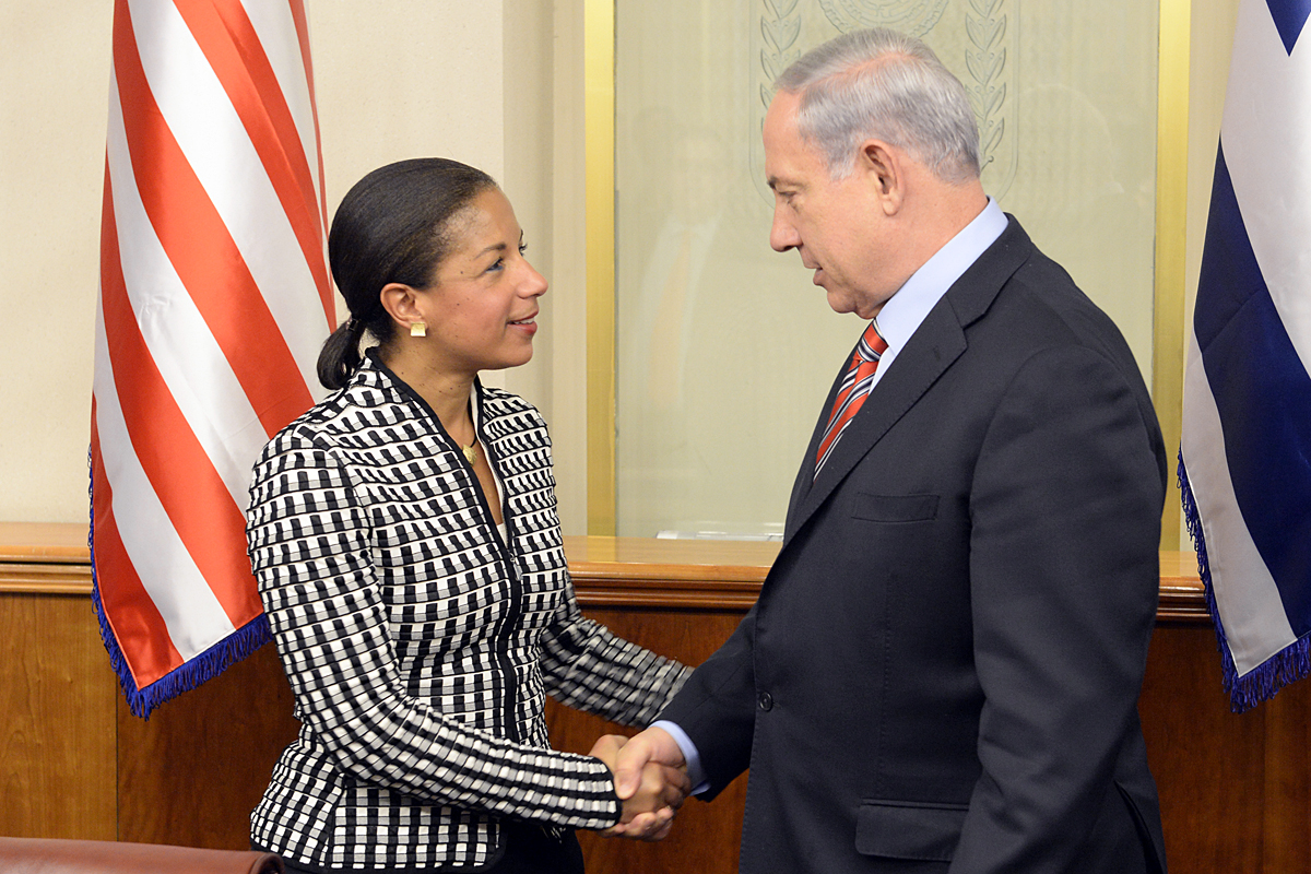 NSC adviser Susan E. Rice visit to Israel