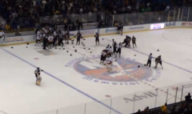 (VIDEOS) NYPD/FDNY Charity Hockey Game Features Bench-Clearing Brawl Featured