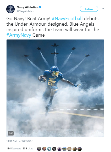 378a58591 Navy unveils brand new Blue Angels uniforms for Army-Navy game