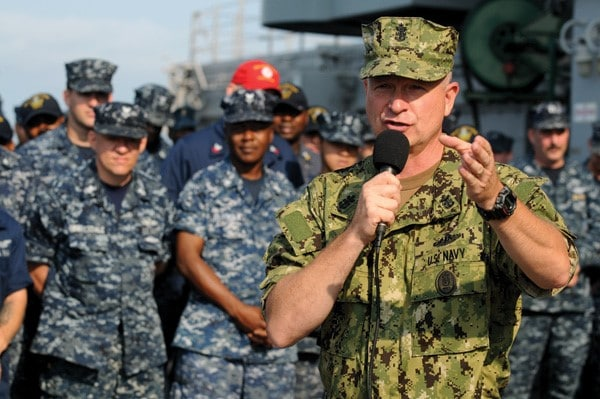 US Navy ends its 'blueberry' camouflage uniforms