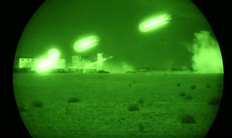 Night Vision Attack Venom Helicopter - (VIDEO) Night Vision Footage Of The Super Huey Helicopter During Urban Close Air Support Exercise