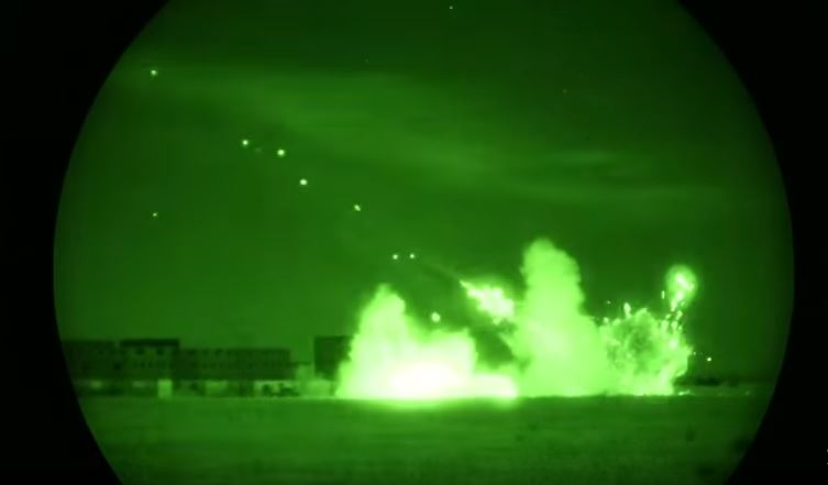 (VIDEO) Night Vision Footage Of The Super Huey Helicopter During Urban Close Air Support Exercise Featured