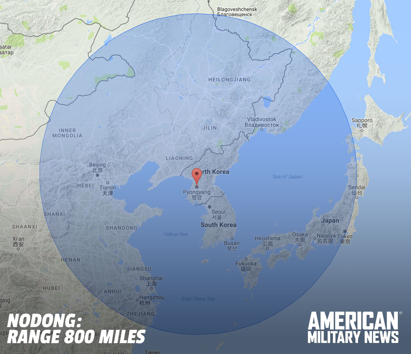 NoDong Range - How to survive a nuclear attack, and current North Korean missile ranges