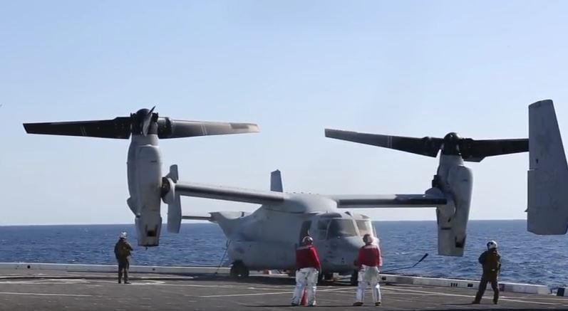 Osprey Aboard USS San Diego - (VIDEO) Watch U.S. Marines Conduct Flight Operations From The Deck Of The USS San Diego