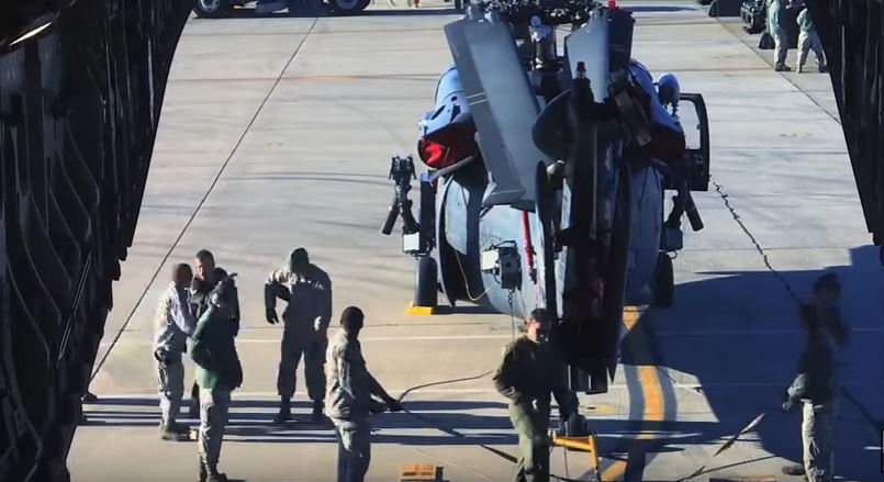Pave Hawk Being Loaded Into Globemaster III