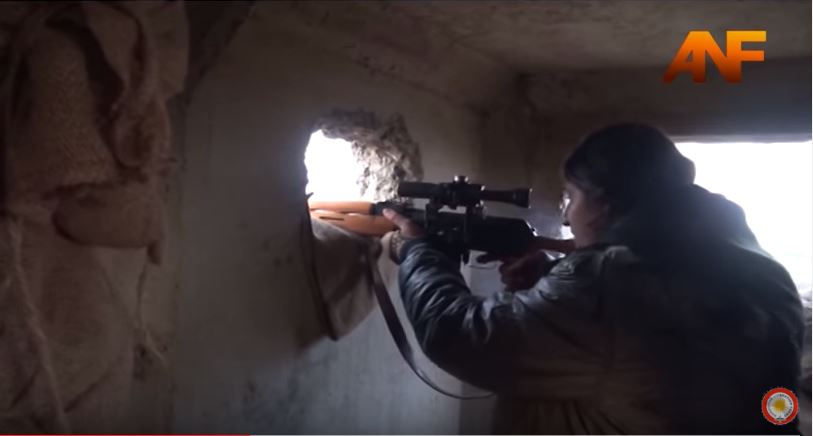 Kurdish Sharpshooter in fight against ISIS.