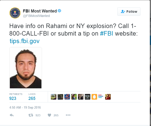 Rahami - BREAKING: Police Release Photo Of NYC Bombing Suspect