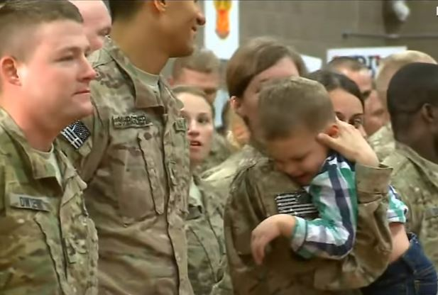 Runs to Mom - (VIDEO) Toddler Runs Into Mom's Arms Upon Her Return From 9-Month Deployment