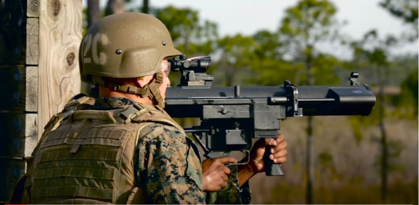 U.S. Marines Fire Shoulder-Launched Multipurpose Assault Weapon As Part Of The Basic Combat Engineer Course At Camp Lejeune Featured