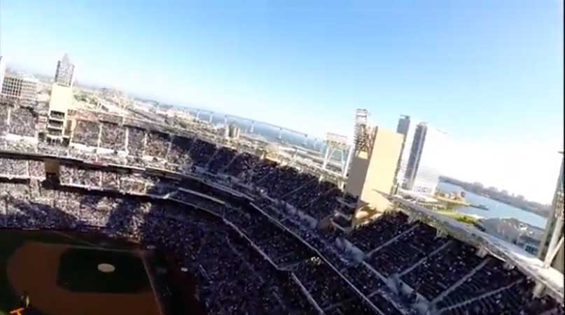(VIRAL NAVY SEAL VIDEO): Navy SEAL Leap Frogs Jump Into Padres MLB Game Featured