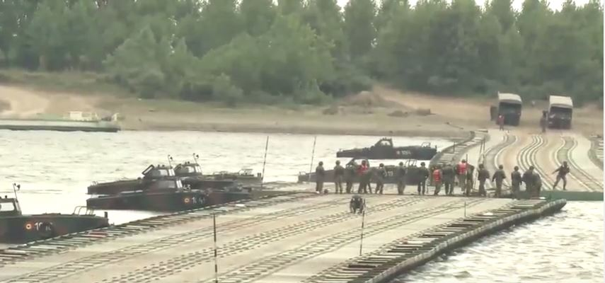 Saber Guardian 17 River Crossing - (WATCH) US Army Strykers and Romanian armored vehicles cross pontoon bridge during Exercise Saber Guardian