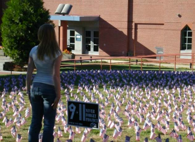 Student Protesters Tear Down 9/11 Memorial Featured