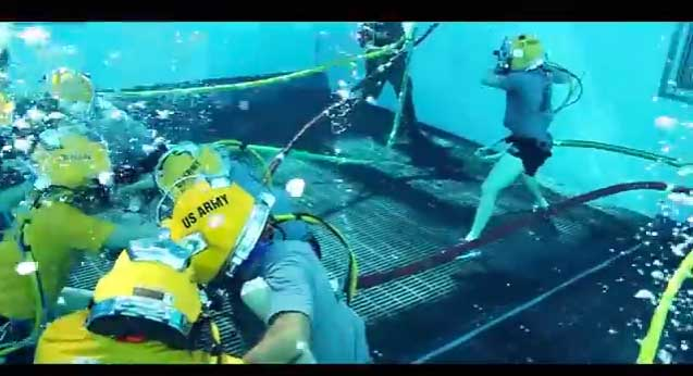 (VIDEO) Navy Divers Take Football Rivalry Underwater Featured