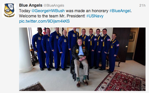George H. W. Bush: Honorary Blue Angel Featured