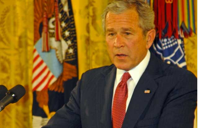 President Bush Breaks Down During Medal Of Honor Presentation Featured