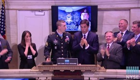 Army Strong! Medal Of Honor Recipient Breaks NYSE Gavel