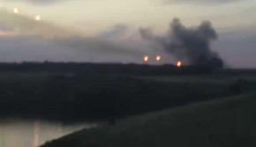 rockets being fired from Russia into Ukraine