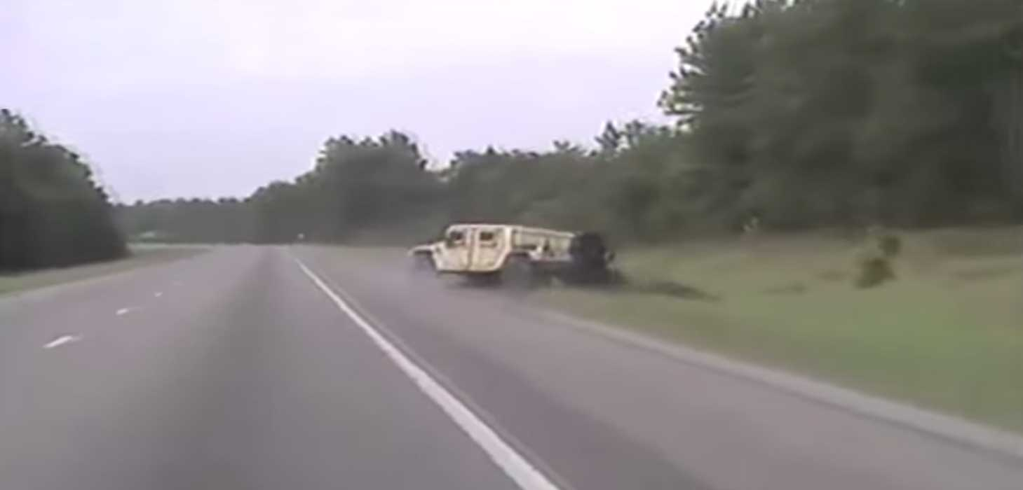 (VIDEO) Veteran Steals Humvee, Leads Police On Dangerous Chase Featured