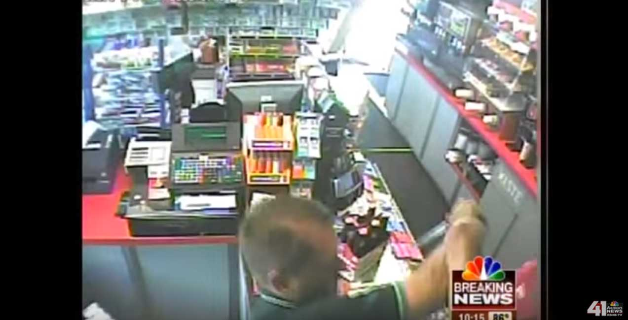 Thug Attempts To Rob Gas Station, Marine Clerk Quickly Stops Him Featured