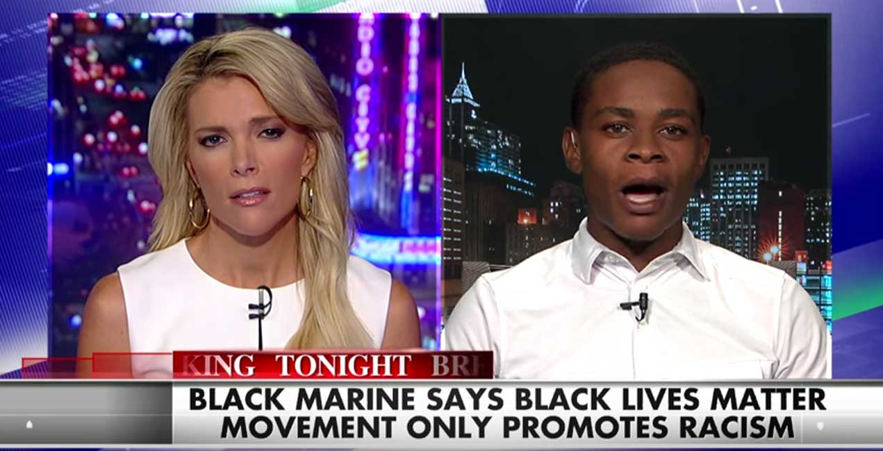 "(WATCH) Black Marine From Viral ""Black Lives Matter Video"" Goes On Fox News Featured"