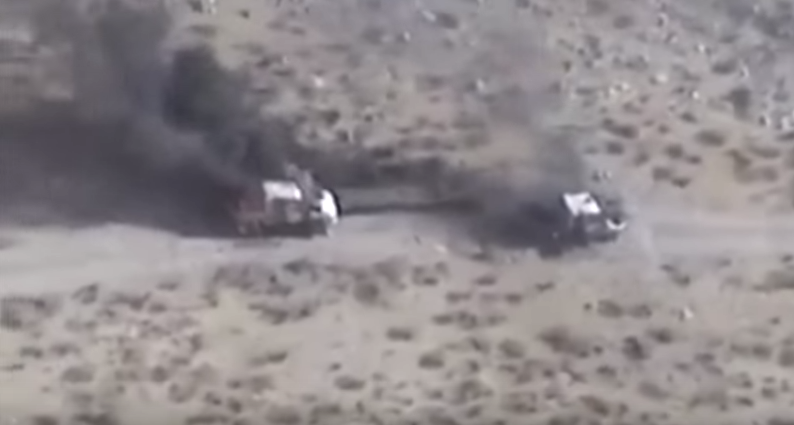 (WATCH) Apache Gunship Takes Out Rebel Convoy Featured