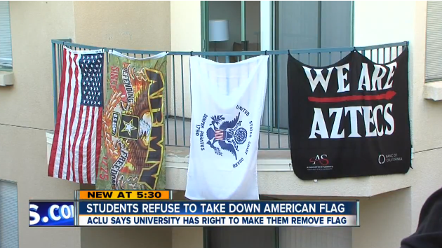 College Students Face Expulsion For Hanging American & Military Flags Featured