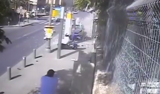 (WATCH) Disturbing Footage Of Butcher Knife Terrorist Attack In Jerusalem Featured