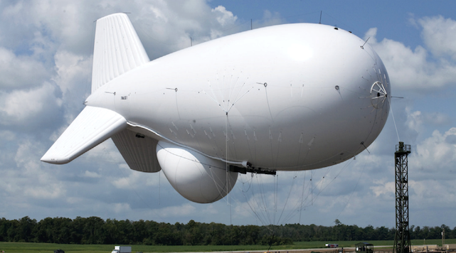 Military Blimp Breaks Free, Floating Aimlessly And Taking Out Power Lines Featured