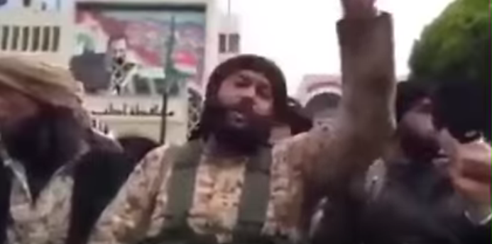 (WATCH) ISIS Terrorist Goes On Rant, Seconds Later Wiped Away Featured
