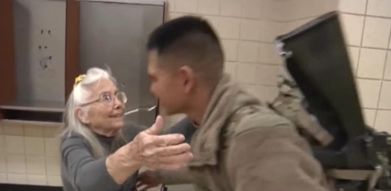 This Grandma Hugged Soldiers At The Airport For 12 Years – Then She Disappeared (VIDEO) Featured