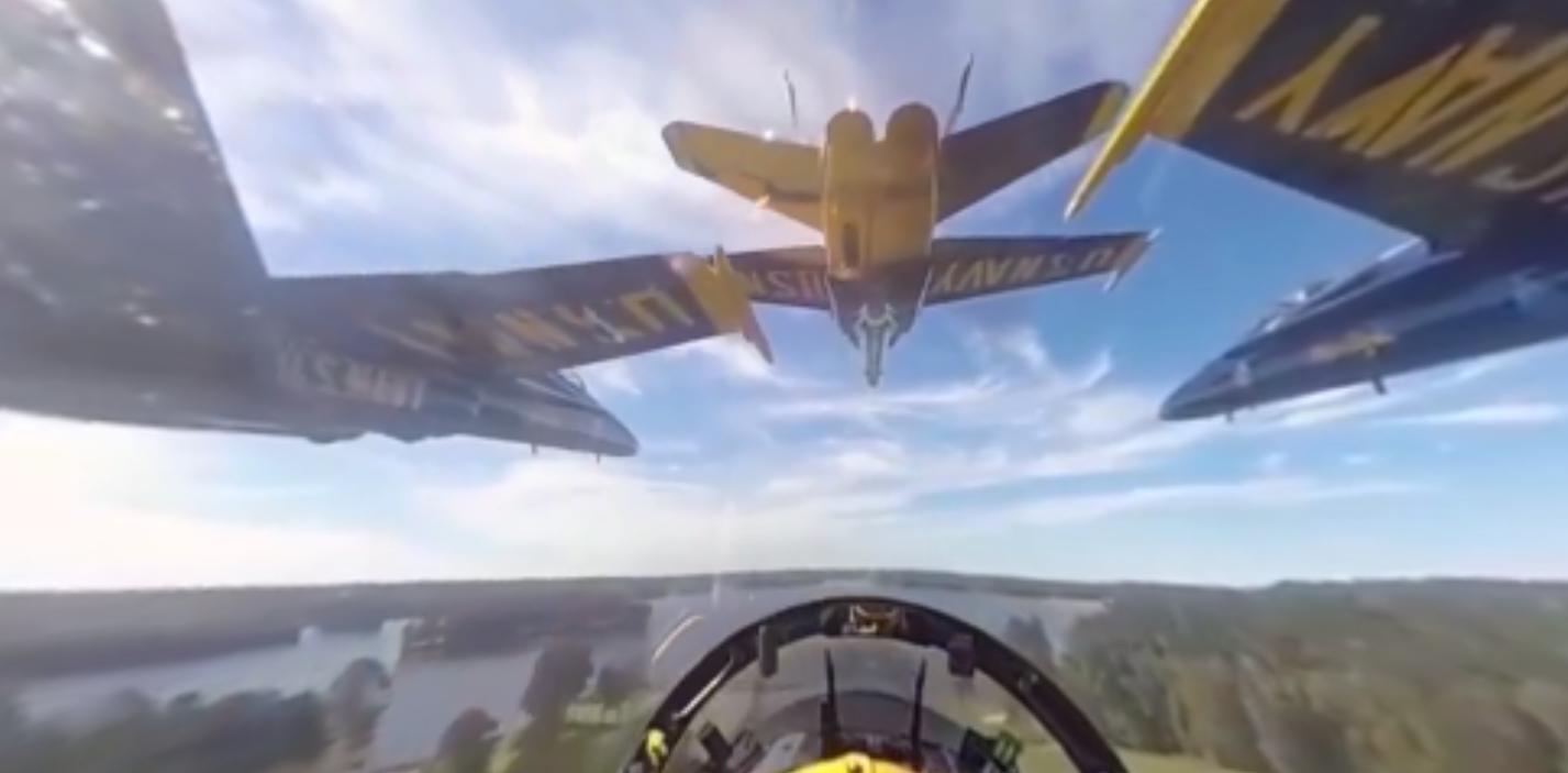 Facebook Founder Mark Zuckerberg Posts 360-Degree Navy Blue Angels Video Featured