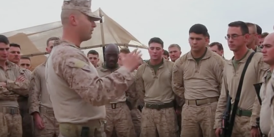 Marines Give Thanks At Patrol Base Boldak In Helmand Province, Afghanistan Featured