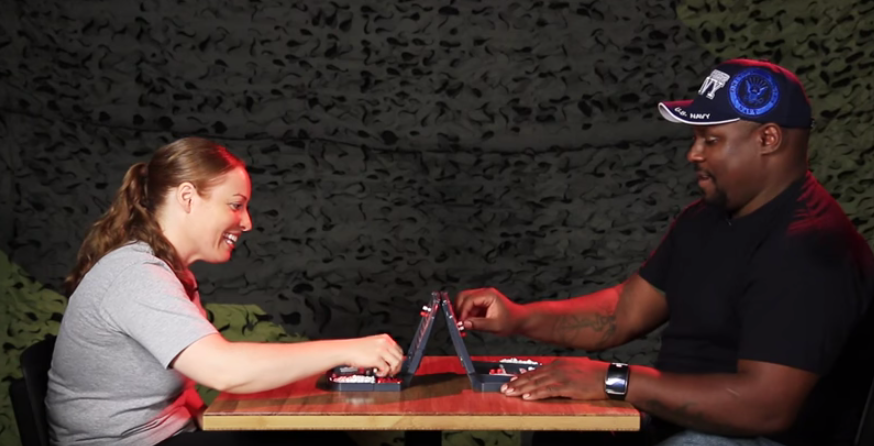 (WATCH) Two Navy Vets Square Off In A Game Of Battleship Featured