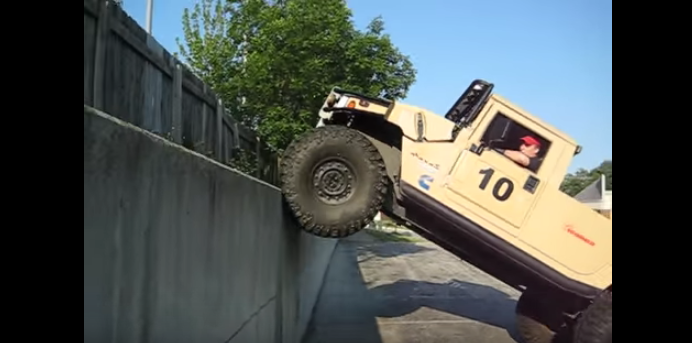 Ho-Hum, Just A Video Of A Humvee Climbing A Wall! Featured