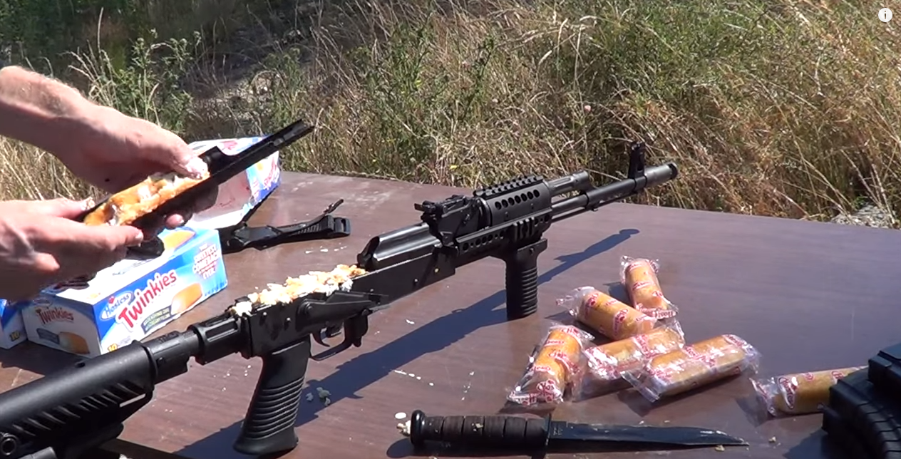 AK47 Filled With Twinkies! Will It Shoot Or Explode? (And Don't Miss Which Gun He Deep-Fried) Featured
