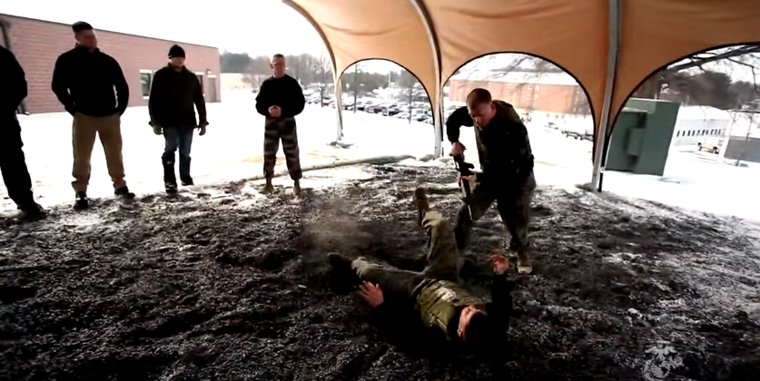 Dana White & 8 UFC Fighters Try Their Hand At Marine Corps Martial Arts Featured