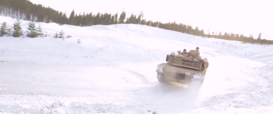 U.S. Marines Take Their Tanks To Norway To Do A Little Drifting On Ice Featured
