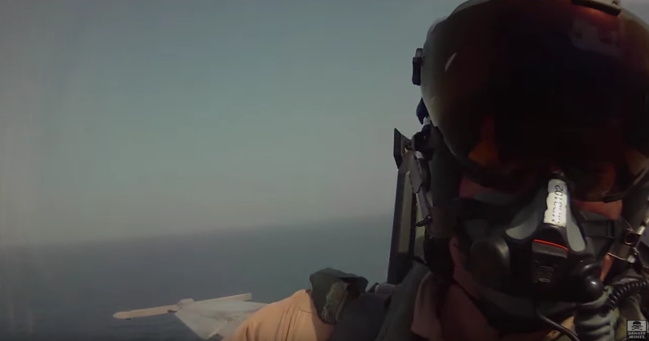 Cockpit Video Of An F/A-18F Super Hornet Providing A Supporting Role In ISIS Airstrikes Featured