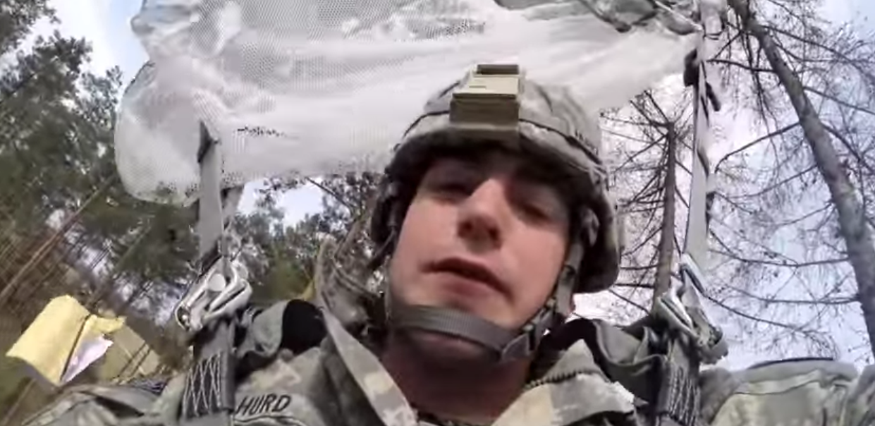 Watch (HD) What This Paratrooper Does To Free Himself When His Chute Gets Stuck In A Tree Featured