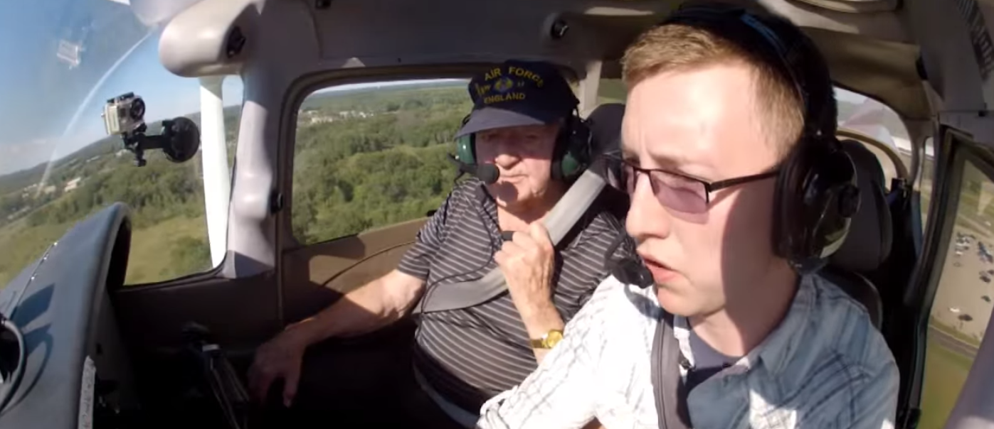 Watch New U.S. Air Force Pilot Take His WWII Army Air Forces Veteran Grandfather Flying Featured