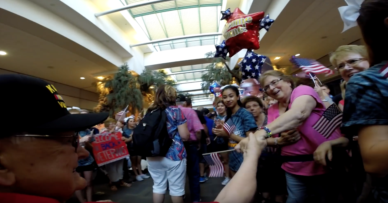Screen Shot 2016 07 05 at 10.23.15 AM - WW2 Veterans Receive Epic Welcome After A Two Day Tour Of Washington D.C.